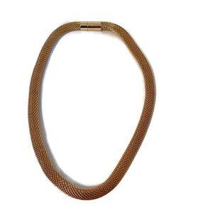 "Jewelry - ⭐️ NECKLACE CHOKER GOLD TONE MESH 17.5"" JEWELRY"